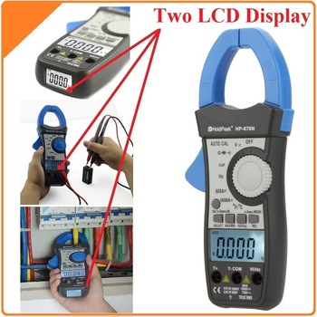HoldPeak HP870N Auto Diapazons DC AC Digitālo Clamp Meter Multimetrs Pinza Patiesa RMS Frekvenču kapacitāte pretestības mērītājs Apgaismojums